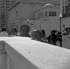 (patrickjoust) Tags: street city people urban bw usa white black 120 6x6 tlr blancoynegro film home saint st kids analog america square lens person us reflex md focus day mt mechanical kodak united trix north patrick twin maryland super baltimore parade mount 400 medium format states manual patricks 13 80 joust vernon developed ricoh develop estados xtol 80mm f35 ballustrade blancetnoir unidos ricohflex schwarzundweiss autaut patrickjoust