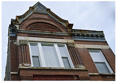 1100 Block of Leavitt St (swanksalot) Tags: chicago architecture 35mm buildingdetail swanksalot sethanderson