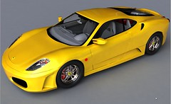 Yellow Ferrari F430 - VRAY Render (bloggerknight) Tags: car cg ferrari hdr 3ds hdri 3dsmax ferrarif430 vray ferrarired ferrariyellow 3dsmaxrender cgicar digitalferrarif430 vraycar ferrariwhite ferrariredwhite ferrarigrey vrayhdr