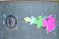Hak + Saro Combo (- Hak -) Tags: street art wisconsin sticker madison hak combo saro