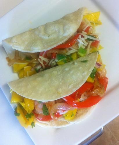 Seafood Taco with Mango Salsa