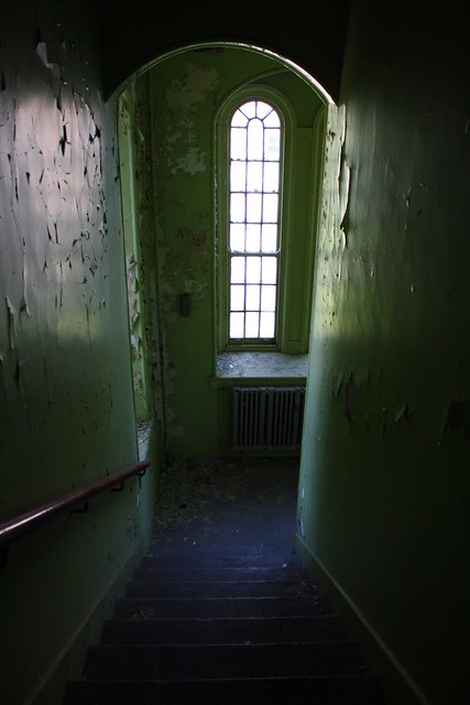 going down on an old insane asylum