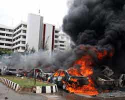 The bombing of the Nigerian Police headquarters in Abuja in June 2011 sent shockwaves throughout the country. The authorities have blamed the attack on the Boko Haram group based in the north of the West African state. by Pan-African News Wire File Photos