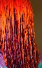 Day 293 of 365 - Year 2 (wisely-chosen) Tags: selfportrait me september canon50mmf18 orangehair purplehair cameraraw 2011 365days canonspeedlite430exii manicpanicpurplehaze manicpanicelectricbanana adobephotoshopcs5extended manicpanicrocknrollred