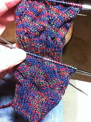 Nutkin Sock progress by knittingbrow