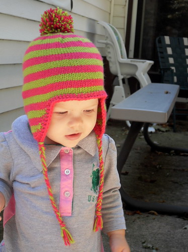 Miriam's earflap hat