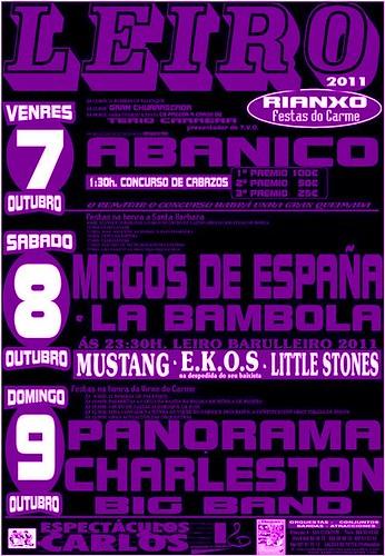 Rianxo 2011 - Festas de Leiro - cartel