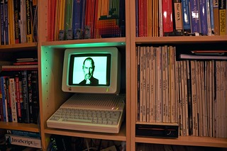 Steve Jobs rendered in Applesoft BASIC