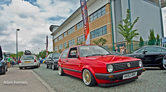 Low Red MK2 (Adam Kennedy Photography) Tags: show red summer adam car vw golf volkswagen bash nikon awesome mk2 gti bbs kennedy detailed unphased d7000