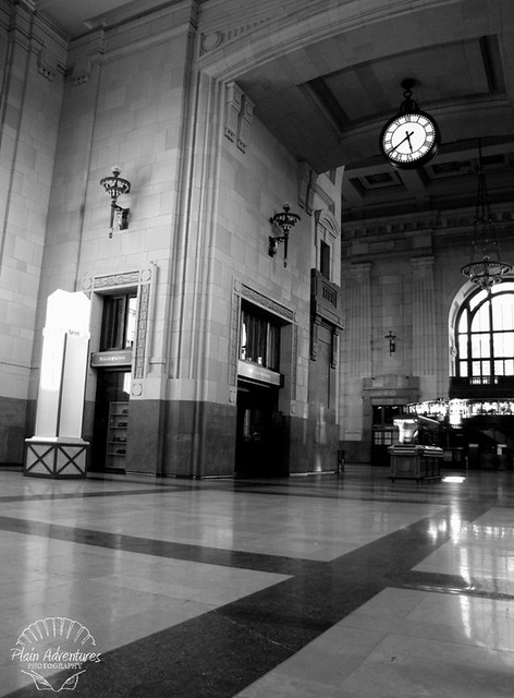 Central Station Black and White