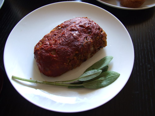 mini lentil loaf roast with sage