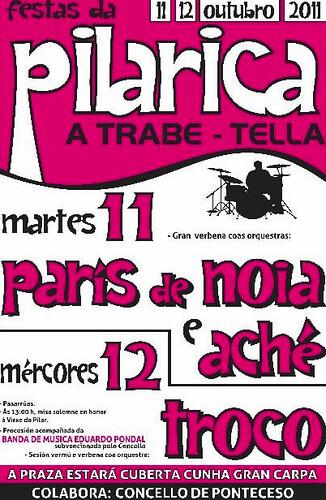 Ponteceso 2011 - Festa da Pilarica en Trabe-Tella - cartel