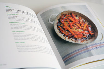 Inside view of Hungry? cookbook 3047 R