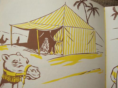 yellow desert tent