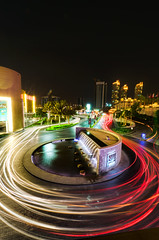 Over The Bridge (Najib Nasreddine) Tags: longexposure travel light digital nikon dubai niceshot uae nikkor unitedarabemirates lighttrail longexosure flickraward zensationalworld doublyniceshot doubleniceshot burjkhalifa burjkahlifa blinkagain dblringexcellence tplringexcellence eltringexcellence najibnasreddine