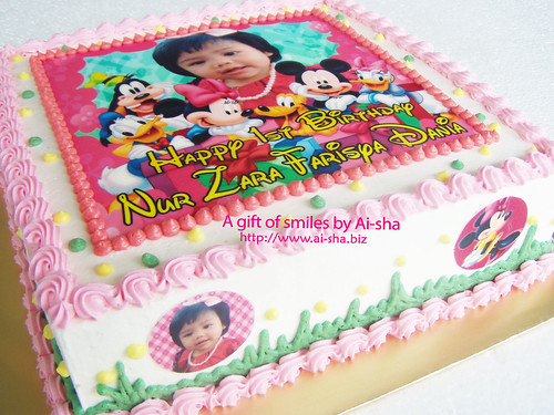 Birthday Cake Edible Image Mickey Mouse and Friends