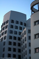 Organic houses II (Miriam Daepp) Tags: barcelona city urban london reflections germany switzerland losangeles citylife streetphotography istanbul lausanne venicebeach bern duesseldorf cityscenes gehryhouse gehryarchitecht