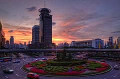 Sunset  at Lujiazui Shanghai