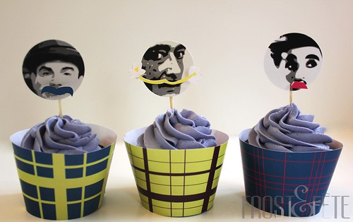 Famous Stache Movember cupcakes
