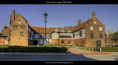 Gainsborough Old Hall (south side) (Paul Simpson Photography) Tags: england history lamp sunshine mystery hall streetlamp bluesky churchtower lincolnshire lantern hdr greentrees englishheritage historicbuilding lincs historicplaces gainsborougholdhall sonya100 westlindsey paulsimpsonphotography photosofgainsborough lincolnshirephotos