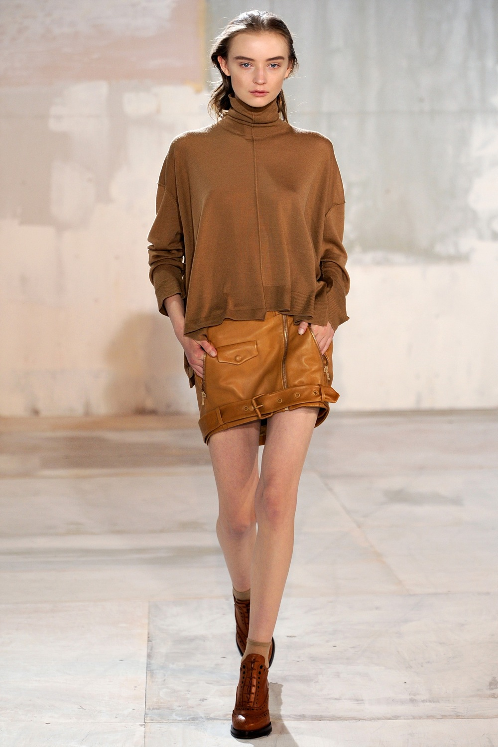 Acne FW2011 leather jacket skirt