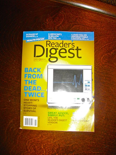 Reader's Digest with excerpts from Derek's Blog