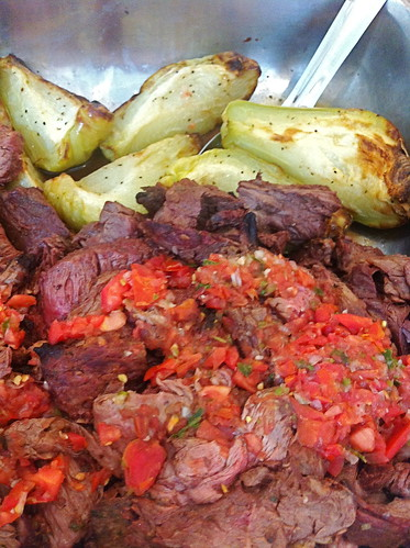 Steak and Chayote with Pico de Gallo