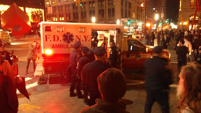 Instigator loaded into ambulance #ows #occupywallstreet
