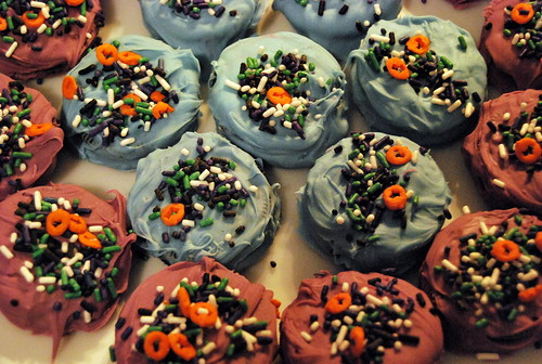 Plated Halloween Cookies