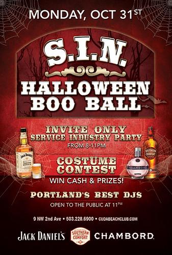 SIN Halloween Boo Bash @ Cuda