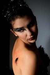 Black Swan 10 (BradJBarry) Tags: halloween costume blackswan canon50mm offcameraflash strobist tamron1750mm canon430 canon580 canon7d michallynn