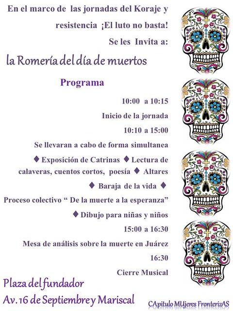 La Romería del día de Muertos. Ciudad Juárez