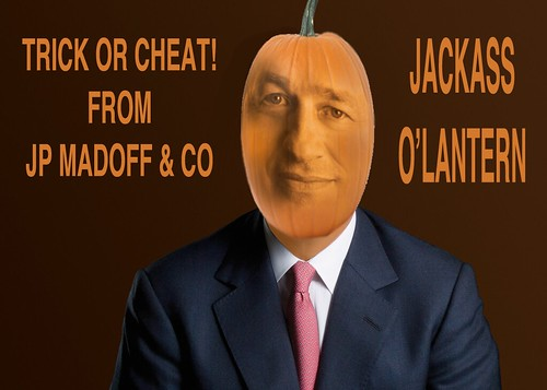 JP MADOFF HALLOWEEN GREETING by Colonel Flick