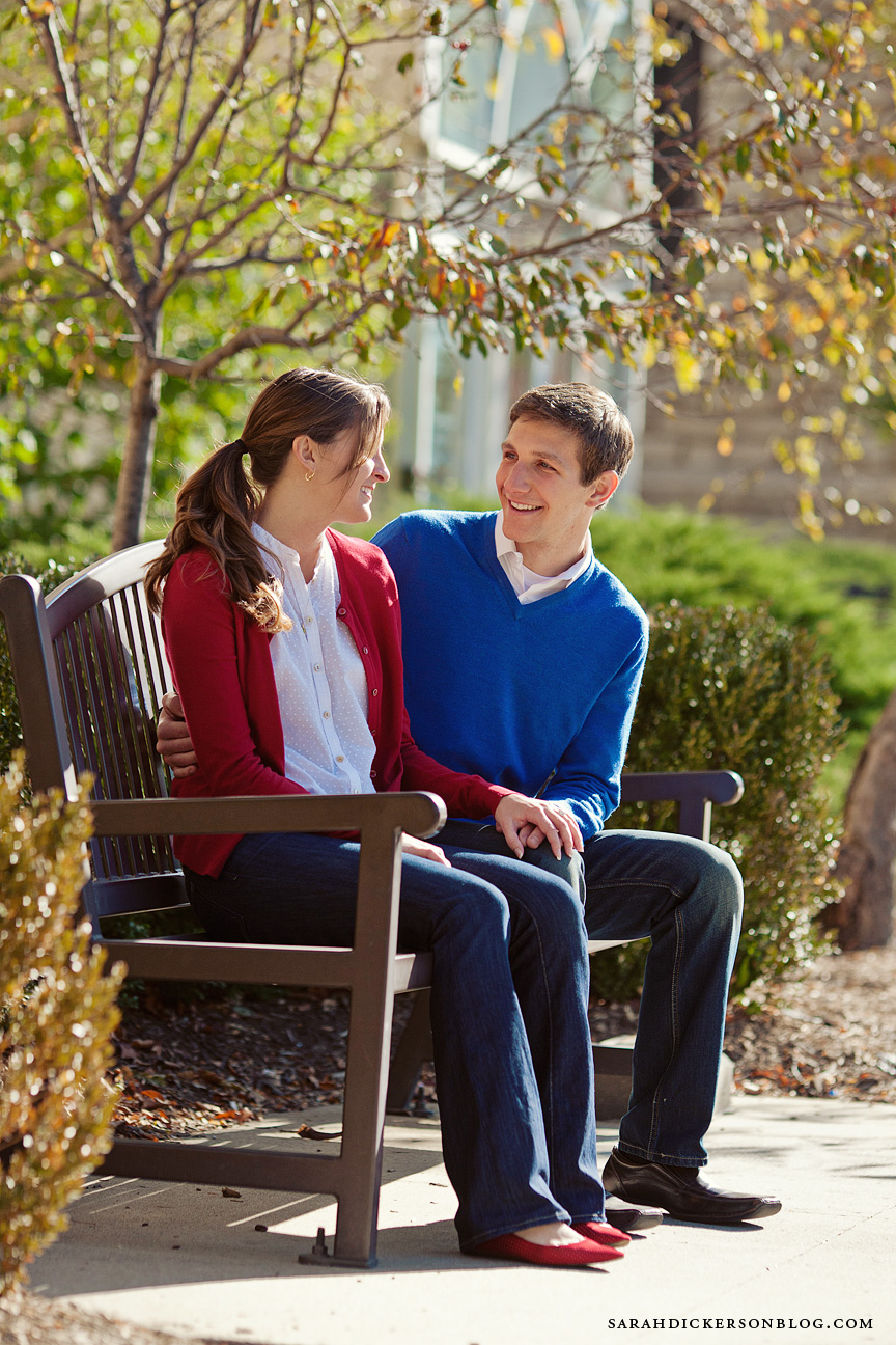 University of Kansas Lawrence engagement photographer