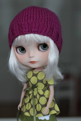 Mina wearing our new Moshi-moshi top and an unexpected hat :)
