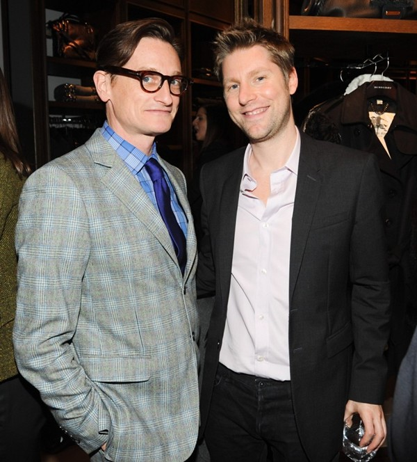 9a Opening of the New Burberry London Shop at Saks Fifth Avenue NY-Hamish Bowles Christopher Bailey
