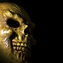 As it's Halloween, I treated myself to a haircut and a shave (Sam Knox) Tags: halloween skull scary horror bwahahahaha
