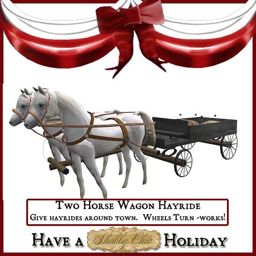 Shabby Chic Two Horse Hayride Wagin by Shabby Chics