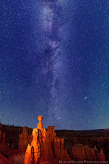"""Milky Way stars over Thor's Hammer - Bryce Canyon (IronRodArt - Royce Bair (""""Star Shooter"""")) Tags: thors hammer thorshammer bryce canyon national park twilight dusk astro astronomy astrophotography stars starry constellation night sky evening milky way milkyway shiny cosmic cosmos dark deep space distant long exposure time galaxy heaven infinity universe nature planet shine sparkle glow twinkle starl"""