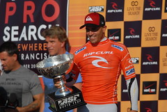 Kelly Slater wins his 11 surfing world title in San Francisco California
