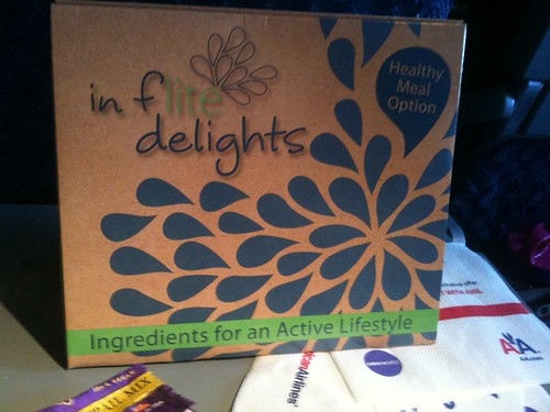 American Airlines new in flite delights snack box