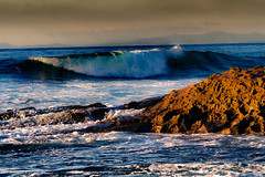 On the Rocks (Sairam Sundaresan) Tags: ocean california wedding light sunset white color nature water canon reflections landscape eos coast rocks waves sandiego wideangle lajolla 7d invite seashore hdr lajollacoves canon7d
