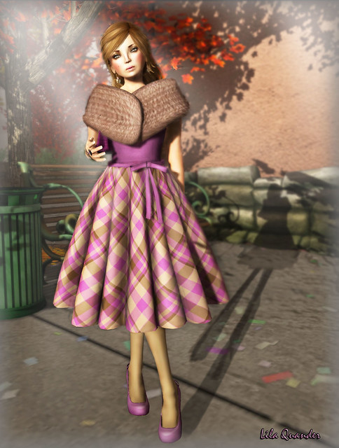 Collabor88 - Ingenue  Martine Dress  Eggplant & -tb- skin