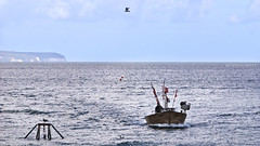coming home (olipennell) Tags: ocean beach strand boot boat fisherman meer balticsea ostsee fischer binz