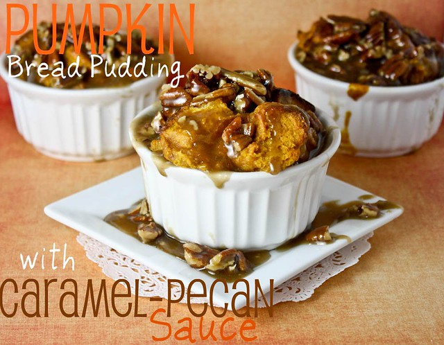Pumpkin Bread Pudding with Caramel Pecan Sauce Confessions of a Cookbook Queen