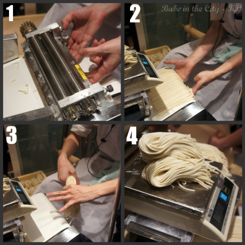 Cutting noodles