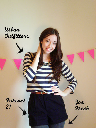 shorts:stripes post