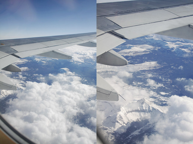 airplane window diptych 7