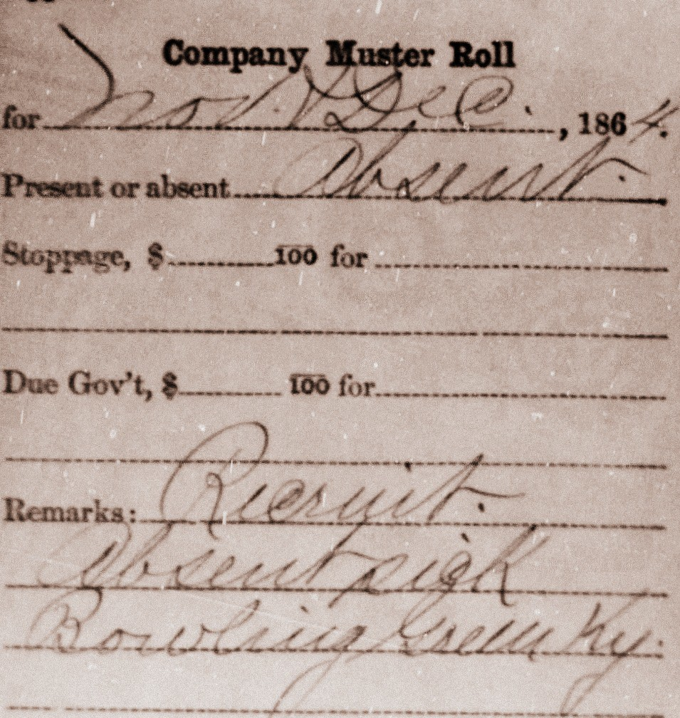 Lewis Stewart Civil War Muster Roll