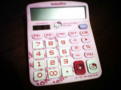 My Pink HK Calculator :D (Kinnutz) Tags: hello pink kitty calculator